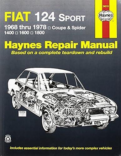 fiat 124 sport spider 68 78 haynes repair manuals haynes rh amazon com 2017 Fiat Spider 1981 Fiat Spider 2000
