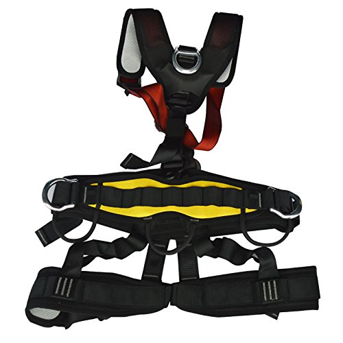 Full Body Climbing Safety Belt Outdoor Mountaineering Tree Climbing Dual-use New by Climbing Safety