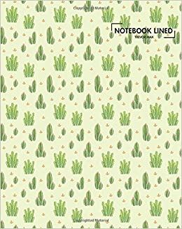 Lined Notebook Cute Cactus Blank Paper Ruled Journal Diary Pages Paperback 22 Feb 2018