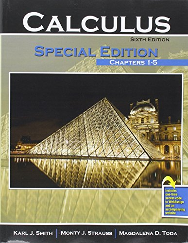 Calculus: Special Edition: Chapters 1-5 (w/ WebAssign)