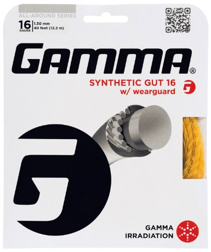 Gamma Synthetic Gut 16G Tennis String With Wearguard, Gold