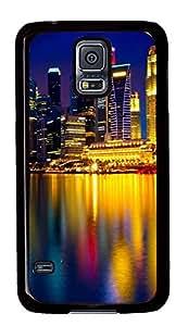Samsung Galaxy S5 Beautiful city at night 07 PC Custom Samsung Galaxy S5 Case Cover Black