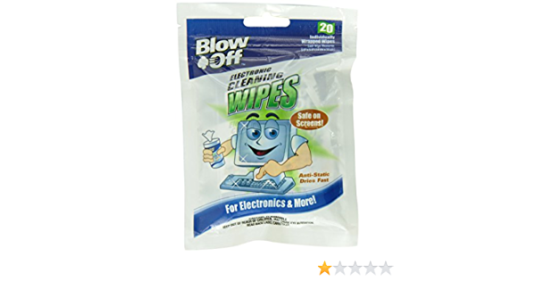 Blow Off WPB20-2620 Electronic Cleaning Wipe Case of 24 20-Count Bag,