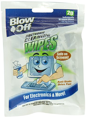 Blow Off WPB20-2620 Electronic Cleaning Wipe - 20-Count Bag, (Case of 24) by Blow Off