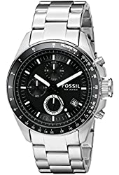 Fossil Men's CH2600 Decker Black Stainless Steel Chronograph Watch