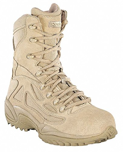 Military Boots, Safety Toe, 8In, 11, PR