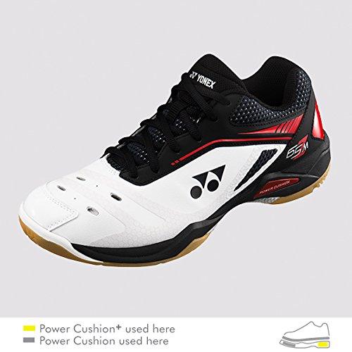 YONEX SHB 65 Z Men's 2018 New Badminton Shoes (US M 11-29.0 cm) White Red by YONEX
