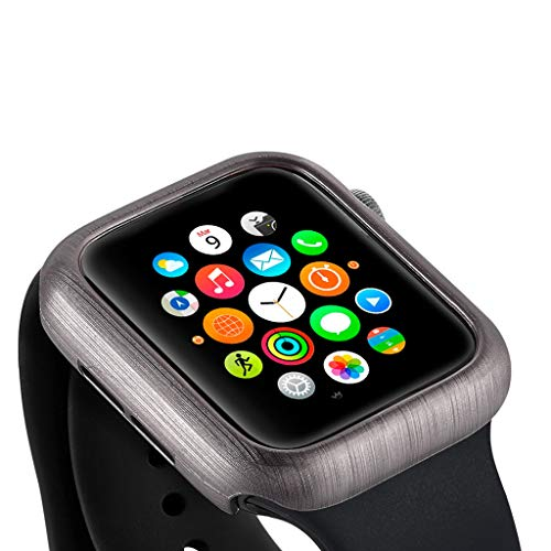 HighlifeS Case for Apple Watch Series 4 Newest Ultra Thin Strips Shape PC Protective Bumper Case Cover for Apple Watch 4 40mm (Gray) by HighlifeS_Apple Watch Case (Image #2)