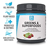 LIV Body   LIV Greens & Superfoods   28 Greens and Superfoods, Added Probiotics & Digestive Enzymes (Strawberry Kiwi)
