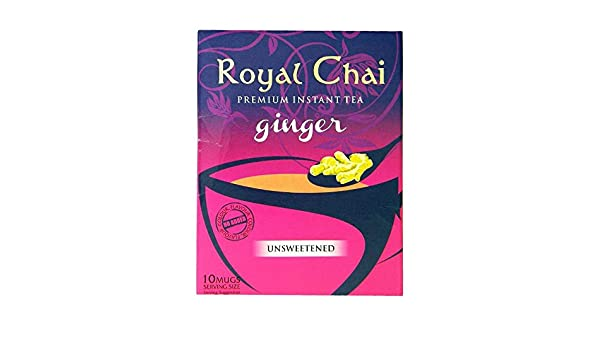 Amazon.com : Royal Chai - Premium Instant Tea - Ginger (unsweetened) 180g : Grocery & Gourmet Food
