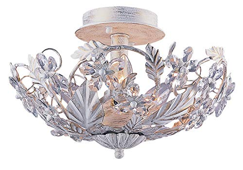 Crystorama 5316-AW Crystal Accents Six Light Ceiling Mounts from Abbie collection in Whitefinish,