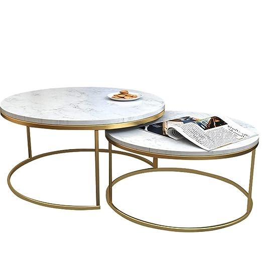 KUKU-mesas de centro El Juego de Mesa de Centro de mármol Redondo ...