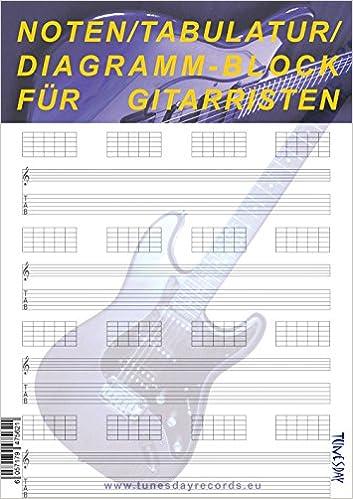 Noten/Tabulatur/Diagramm-Block für Gitarristen: 6057179475621 ...