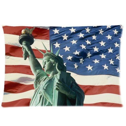 American Flag Custom Rectangle Pillow Cases 20x30  Home Deco