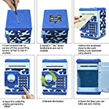 HUSAN Great Gift Toy for Kids Code Electronic Piggy Banks Mini ATM Electronic Coin Bank Box for Children Password Lock Case