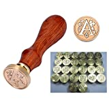 HOUSWEETY Stamp Seal Sealing Wax Vintage Classical Antique Letters Set Creative Stamp Seal Maker Kit