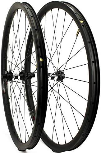 Yuanan 29er - Rueda de Carbono para Bicicleta de montaña (33 mm de ...