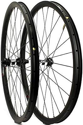 Yuanan 29er - Rueda de Carbono para Bicicleta de montaña (33 mm de Ancho, con buje DT 350 MTB): Amazon.es: Deportes y aire libre