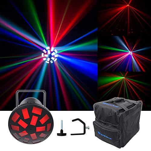 Led Mushroom Light Chauvet (Chauvet DJ Mushroom Dance Floor Effect Party Light Beam + Carry Bag + Clamp)