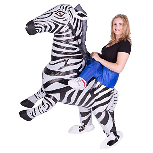 Bodysocks Adult Inflatable Zebra Fancy Dress -