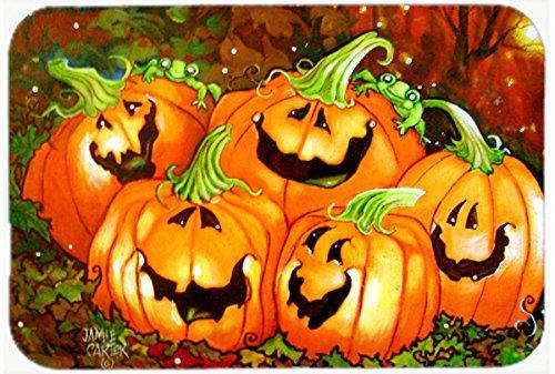 "Caroline's Treasures PJC1071JCMT Such a Glowing Personality Pumpkin Halloween Kitchen or Bath Mat, 24 by 36"", Multicolor from Caroline's Treasures"