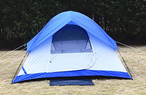 USA STAR Mountain Waterproof Tent Dome Outdoor Camping Instant Tents for Camping 2 Person White Blue