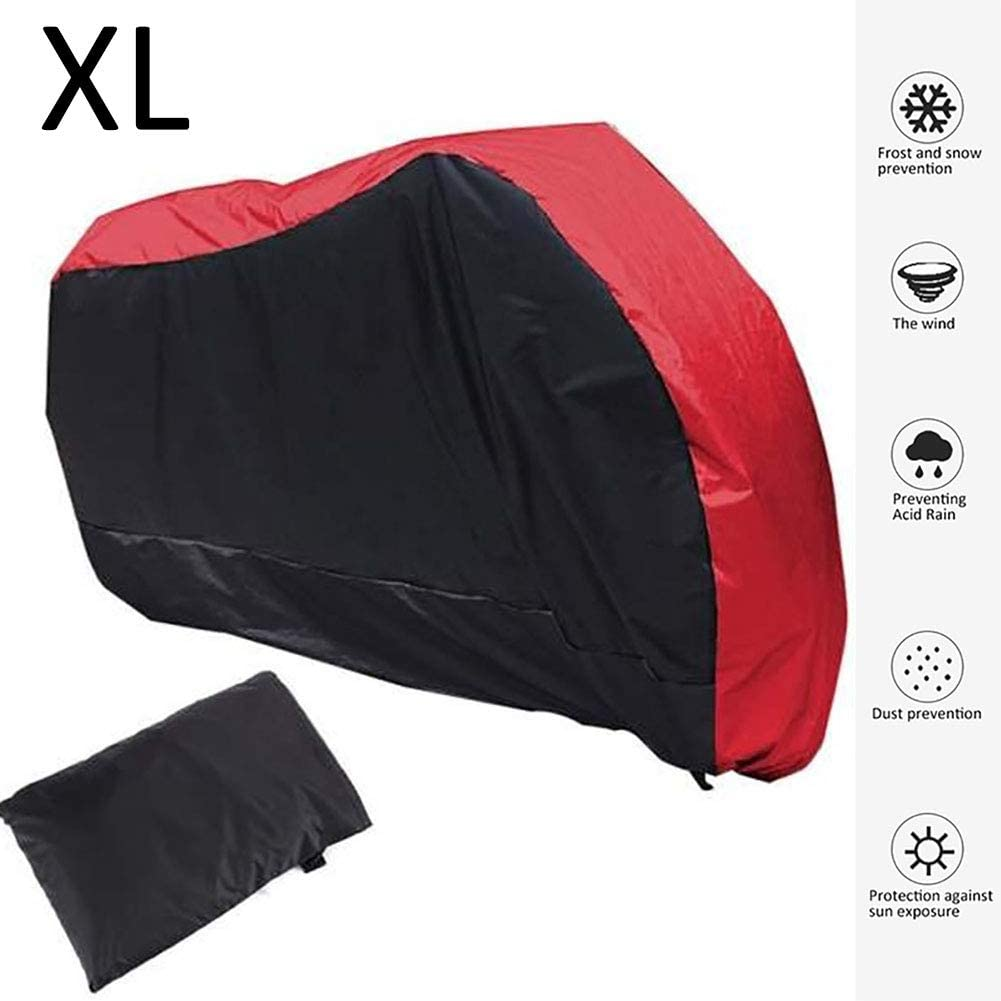 All Weather Outdoor Protection MOOHOP Outdoor Motorcycle Cover Protection,Waterproof Uv Protective Tear Proof Motorbike Cover With Safety Cloth Lock Holes Design