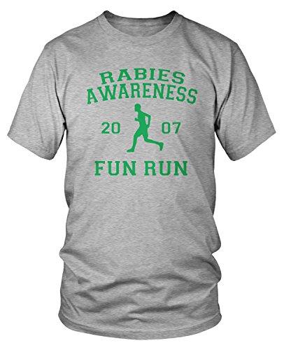 Amdesco Men's The Office Rabies Awareness Fun Run 2007 T-Shirt, Heather Gray 4XL