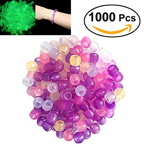 ROSENICE Plastic UV Beads Color Magically Changing UV Reactive Pony Beads Light 1000ppcs