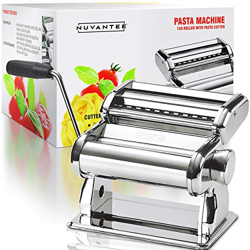 Nuvantee Pasta Maker - Highest Quality Pasta Machine - 150 Roller with Pasta...