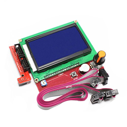 c Smart Controller LCD Display for RAMPS 1.4 RepRap 3D Printer Electronics (128 x 64 display with SD card reader) (3 X Supported Memory)