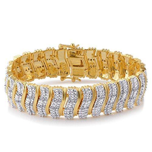 2.00 Cttw Diamond Swirl Fashion Bracelet