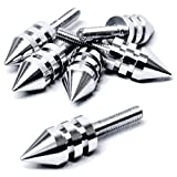Krator Silver Motorcycle Spike Bolt Screw Fairings 6pcs For Harley Davidson Street Tour Road Glide Classic