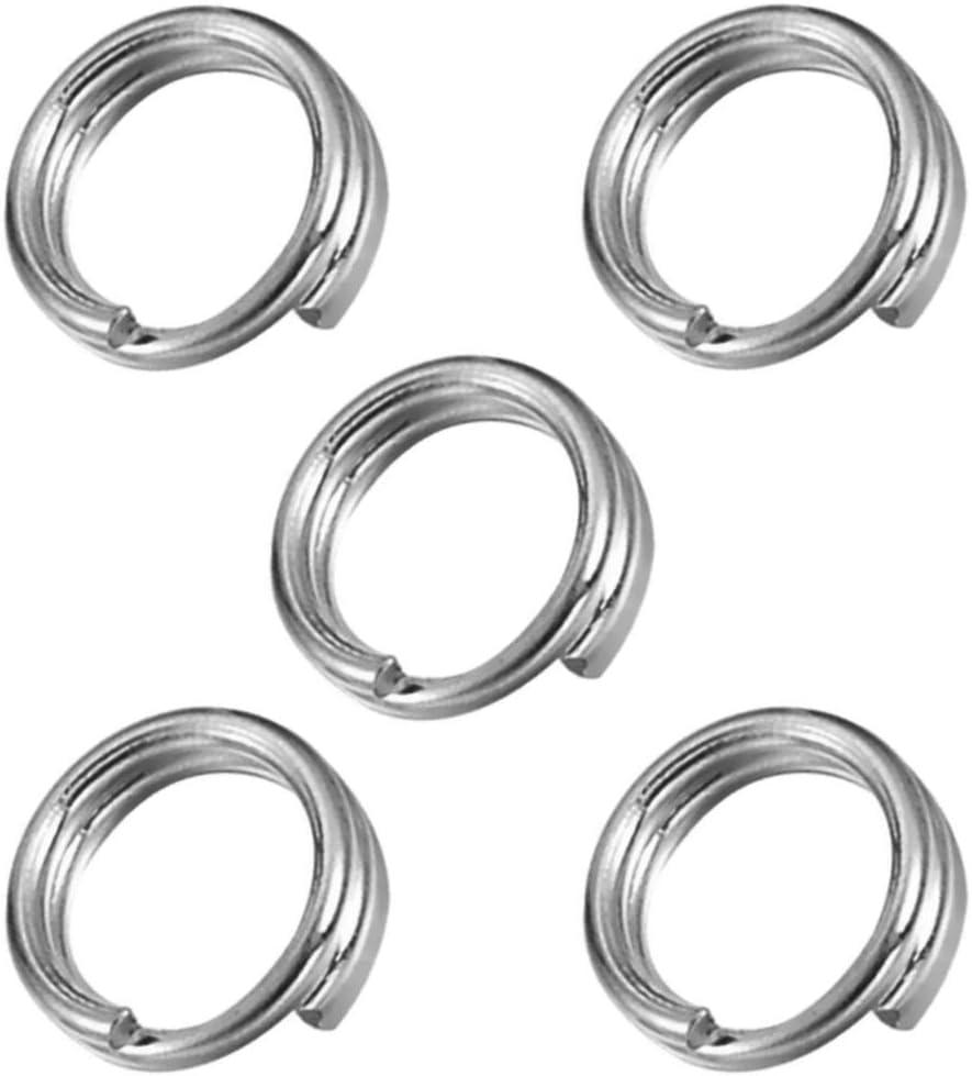 My-Bead 5 St/ück Spaltringe Biegeringe doppelt 7mm 925 Sterling Silber nickelfrei hypoallergen DIY