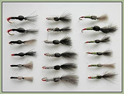 18 Pack Beige klinkhammer Trout fishing Flies Black Choice Olive