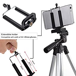 Camera Tripod Stand, EEEKit Professional Rotatable Retractable Tripod Monopod Mount Holder Stand for DSLR