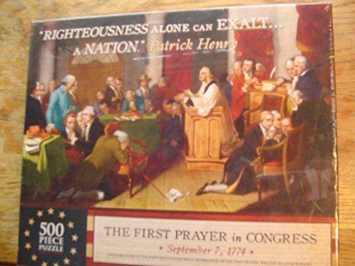 First Prayer in Congress September 7. 1774 500 Pieces Puzzle