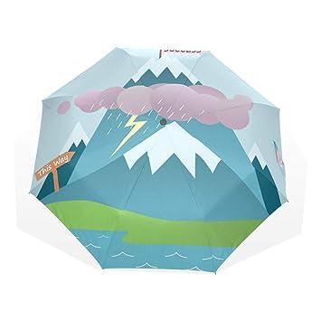 37de9a6358df Amazon.com: Cartoon Success Mountain Travel Folding Umbrella,Sturdy ...