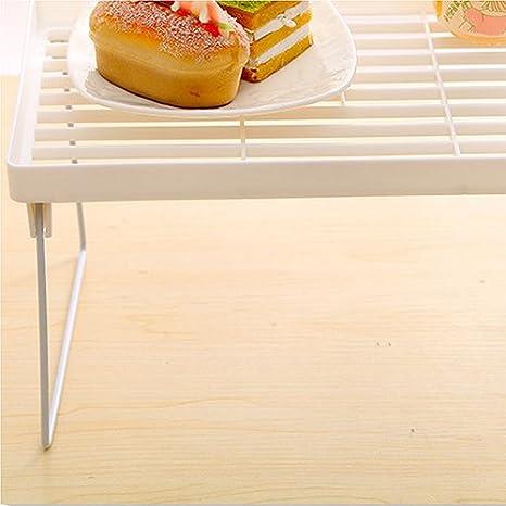 ba/ño Small para cocina multifuncional estante de almacenamiento de escritorio Newhashiqi Estante de almacenamiento plegable Blanco plegable