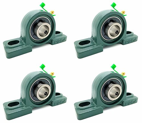 Bearing 3/4 Inch Blocks - Four (4) UCP204-12 Cast Iron Pillow Block Mounted Bearings - 3/4