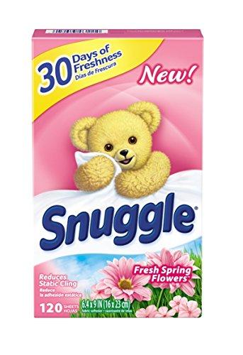 Snuggle Fabric Softener Dryer Sheets Fresh Spring Flowers