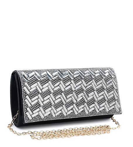 N12 Foldover Ladies Womens Navy Occasion Evening Party Clutch Diamante Prom Bags Dressy HZgx6Hpqw