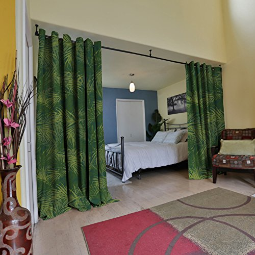 RoomDividersNow Premium Heavyweight Room Divider Curtain, 8ft Tall x 10ft Wide (The (Jungle Furniture)