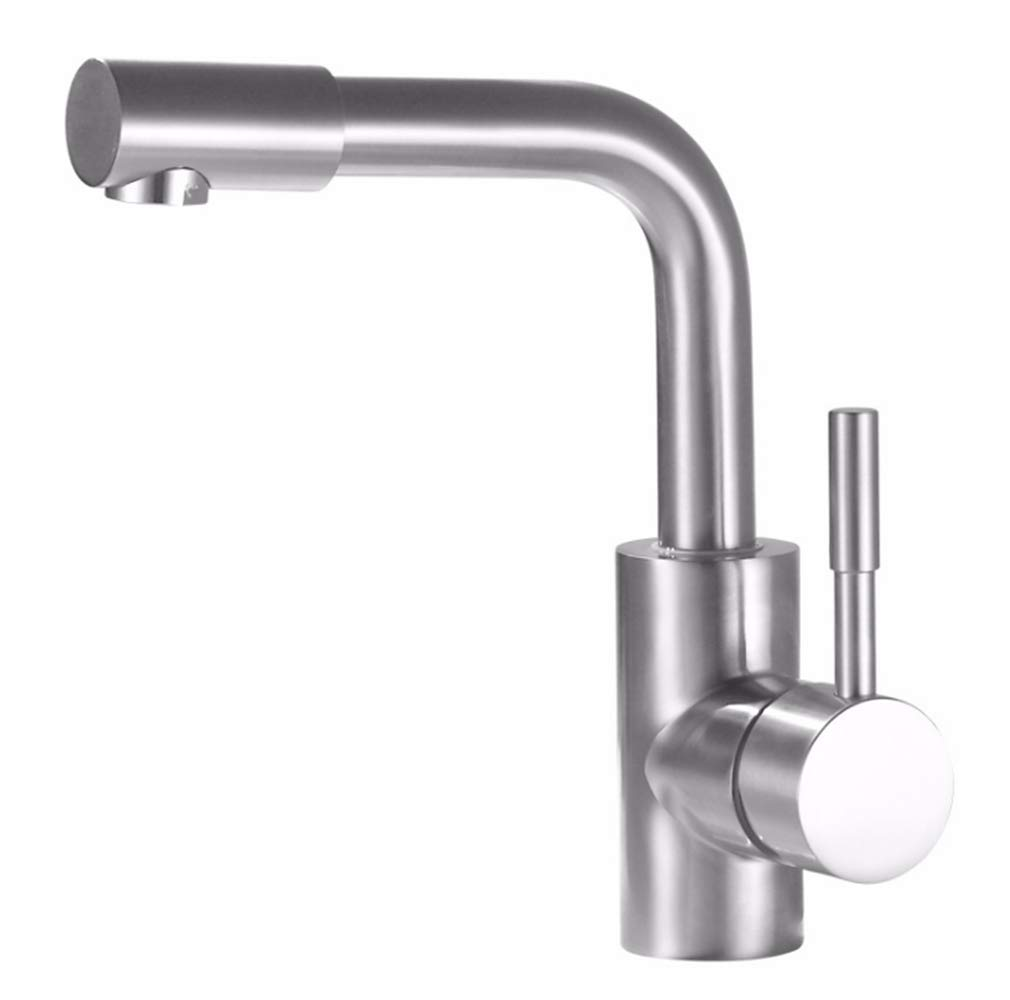 Counter Drinking Designer Arch304 Stainless Steel Basin Faucet Cold and Hot Toilet Basin Washbasin Single Hole Faucet