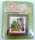 Jiffy Needlepoint Rose Stained Glass Atrium Kit 5268 by Barbara Jennings