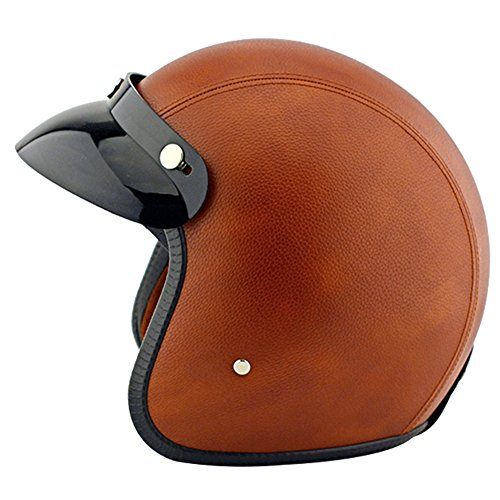 Lanlan 3 4 Open Face Motorcycle Capacete Moto Leather