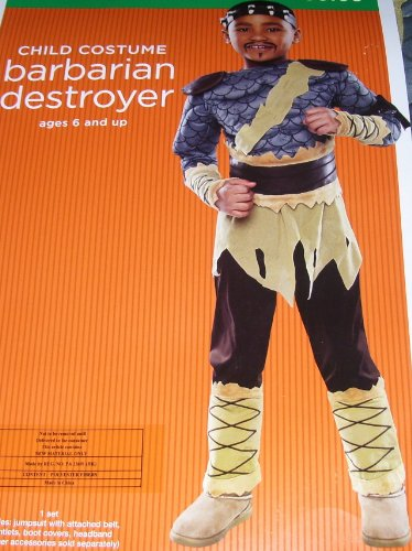 [Child Costume Barbarian Destroyer M Medium 6 - 8] (Barbarian Child Costumes)
