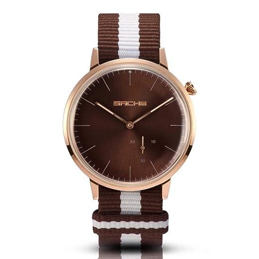 dc679e138c3b Sachs Marrom - Reloj de Pulsera analógico para Hombre y Mujer (Cuarzo