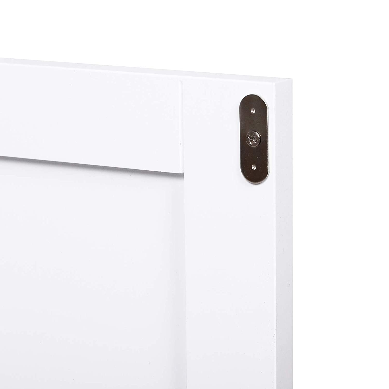 kleankin Mobiletto Armadietto 2 Cassetti Design Anti-Ribaltamento da Bagno in MDF 43 x 34 x 77cm Bianco