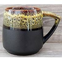 Handmade pottery coffee mug,14 oz, Big ceramic tea cup for husband, Stoneware gift for Men Dad